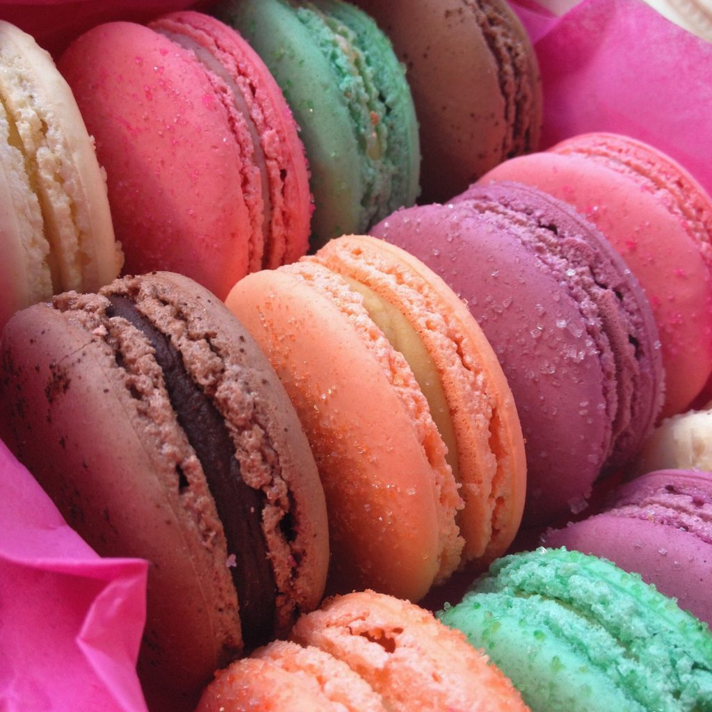 coloured macaroni French macarons iphoneography